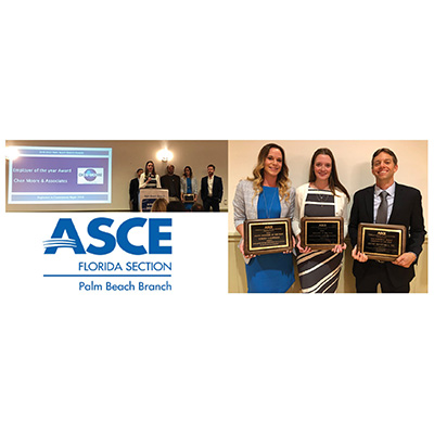 CMA Honored With Three Awards At Annual Palm Beach County ASCE Engineers in Government Night