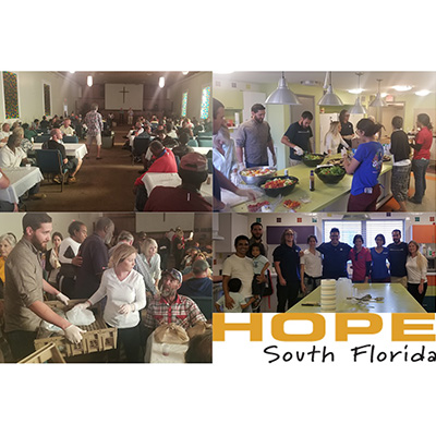 CMA Fort Lauderdale Staff Volunteers at Hope South Florida Shared Meal Program