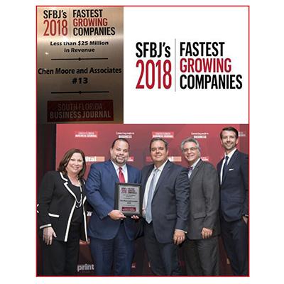 SFBJ Fastest Growing Companies ~ CMA Ranked #13