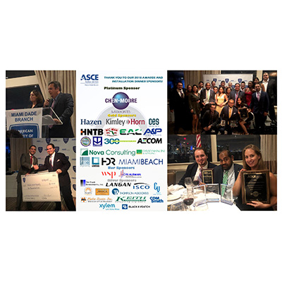 CMA Sweeps Awards at the ASCE Miami-Dade Annual Awards & Installation Banquet