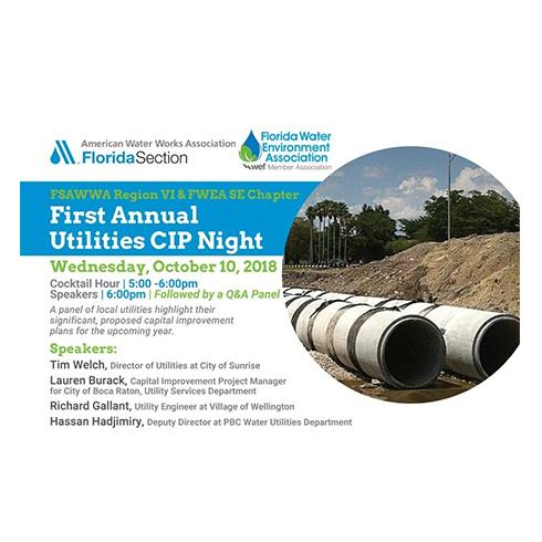 FSAWWA Region VI and FWEA SE Chapter First Annual Utilities CIP Night