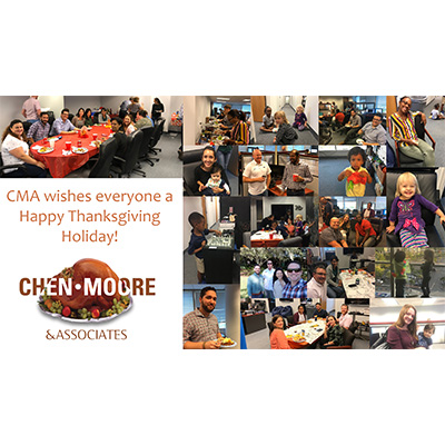 Chen Moore Staff Celebrated Thanksgiving Friends and Family Potluck in Fort Lauderdale