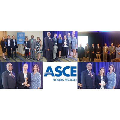CMA Staff Receive Awards at ASCE Florida Section Annual Conference