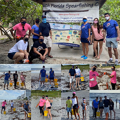 CMA Staff Volunteer at Coastal Cleanup