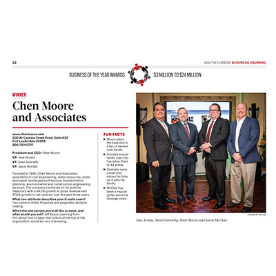 CMA Named SFBJ's Business of the Year