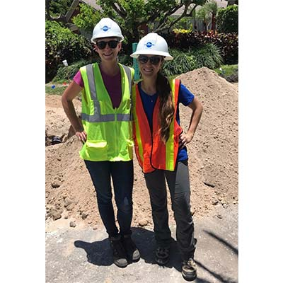 CMA Staff Members Visit Riverview Road Water Main Project Site