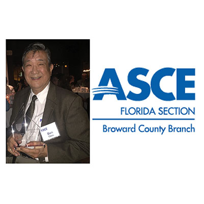Dr. Ben Chen, P.E., BCEE, Named ASCE Broward Engineer of The Year