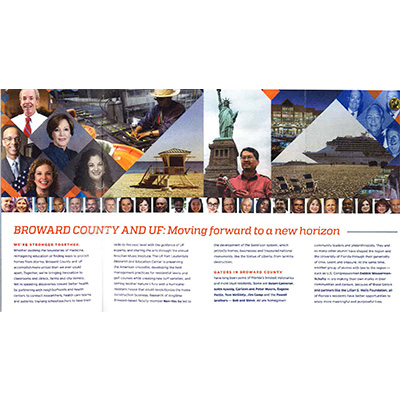 Peter Moore, P.E., F.ASCE, LEED AP Mentioned in University of Florida Brochure