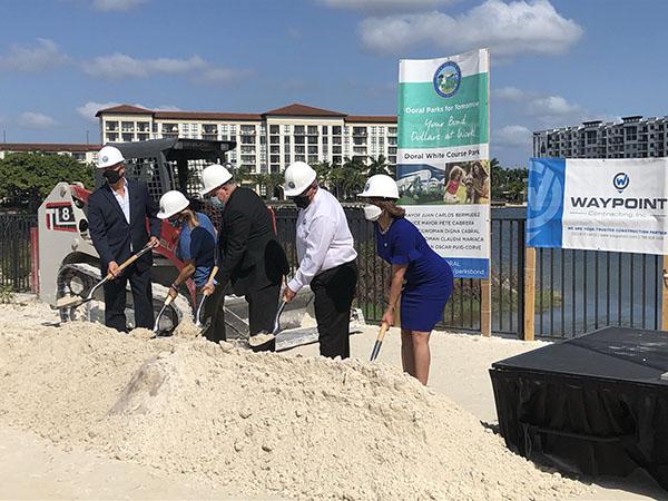 CMA Staff Attends Doral White Park Groundbreaking