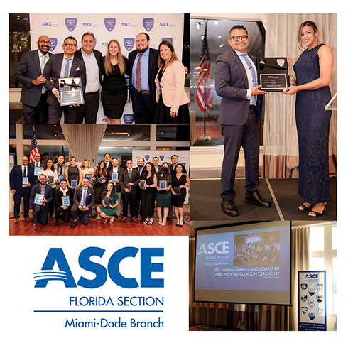 CMA Staff Attended the ASCE Miami-Dade Branch Officer Installation Dinner